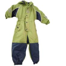 Hooded Padding Seam Taped Coverall Raincoat for Children