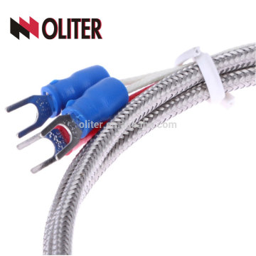 high accuracy platinum resistance fixing thread flexible insulated cables platinum wire manufacturer stainless steel braid pt100