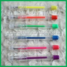 Caneta de tinta de Gel Glitter plástico com cores diferentes