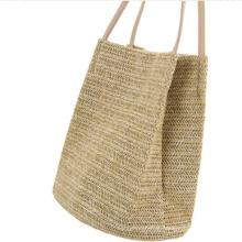 Promotional Vintage Ladies Tote Handbag Straw Purse Bucket Handbags Ready to Ship for Women