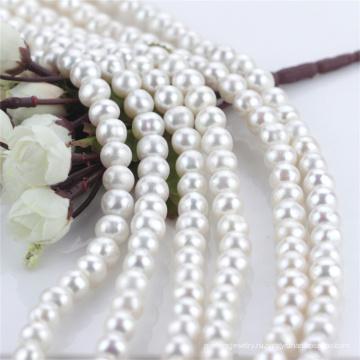 11mm большой размер с круглой естественной пресноводной полной сверлил шнур перлы