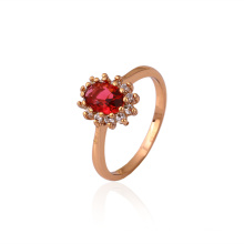 La mejor calidad Xuping el anillo de boda noble oval elegante de la joyería