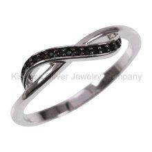 Bague à doigts plaqué or 925 Bijouterie à bijoux en argent (KR3100B)