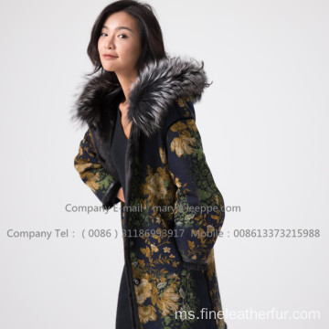 Lady Mink Overcoat Bulu Di Winter