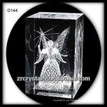 láser grabado cubo de cristal de cristal 3d cristal