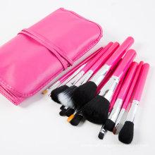 15PCS Makeup Tools Cosmetic Brush Set with Pink PU Leather Bag