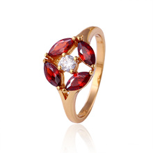 11722 Venda Quente Boa Qualitty 18 k Banhado A Ouro de Cristal Anel de Jóias de Moda para As Mulheres Melhores Presentes