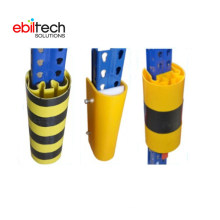 Customized Yellow 120mm Height Warehouse Upright Racking Protector
