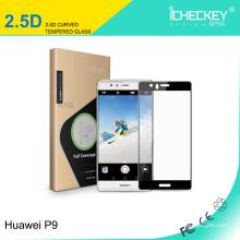 Protecteur d'écran en verre trempé Shenzhen Icheckey pour Huawei P9 2.5 D couverture complète