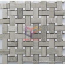 Woven Pattern Marble Stone Mosaic (CFS1021)