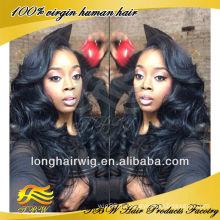 Высокое Качество Европейский Человеческих Волос Парики Бесклеевой Шелковый Топ Полный Парик Шнурка Вьющиеся