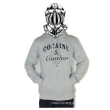 Grey Letter Long-Sleeves Sweatdhirt Hip Hop Casual Shirt