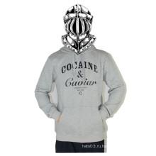 Серый письмо с длинными рукавами Sweatdhirt хип-хоп повседневная рубашка