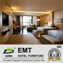 Современный 5-звездочный отель Деревянная мебель для спальни (EMT-HTB04)