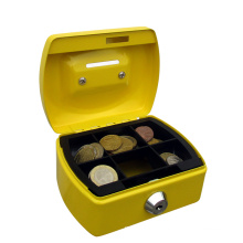 Best selling cute small metal cash coin box  for kids