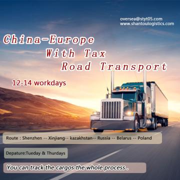 Fast Shenzhen to Europe Road Transport