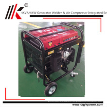China Motor del compresor de aire del generador 4Kw del generador del soldador del motor de la gasolina 100% del generador portátil de cobre