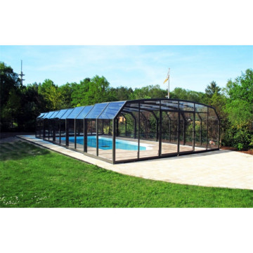 Uttagbar poolhus Aluminium Swimming Pool Skabe