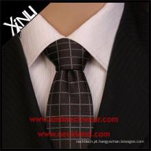 Poliéster estreito barato por atacado das gravatas dos homens tecidos jacquard