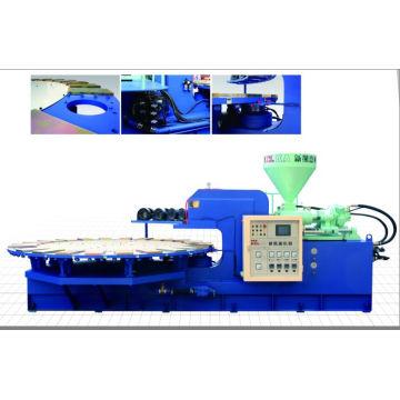 Machine de moulage par injection de cristal / soufflage d'air en PVC rotative automatique