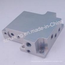 Peças feitas-à-medida da válvula do bloco do alumínio anodizado