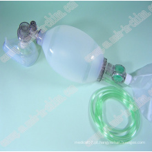 Ressuscitador manual reutilizável de silicone tipo de dispositivos de primeiros socorros