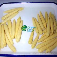 Maïs sucré jaune jaune en conserve