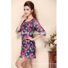 Sommer-Qualität einteiliges Kleid 2016 neues Artstickereikleid für Frauen