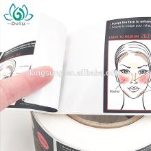 Etiqueta forte sintética da colagem dos PP do material impermeável da etiqueta para o recipiente cosmético