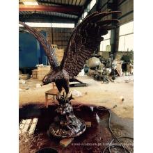 fundição de bronze metal artesanato animal jardim decoração águia