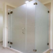 Precio por metro cuadrado de vidrio esmerilado para puerta de sauna