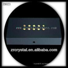 Base de luz LED plástica para el modelo de cristal
