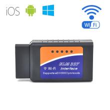 Interfaz ELM327 soporta todos los Obdii protocolos Wi-Fi Adaptador OBD2 escáner