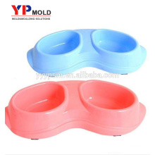 at shaped plastic pet bowl with anti skid on bottom plastic injection mold