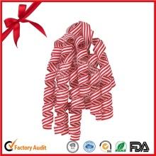 Streifenmuster Curling Ribbon Bogen für Weihnachten Dekorative Schleife