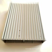mecanizado cnc fresado perfiles de aluminio extrusión disipador de calor