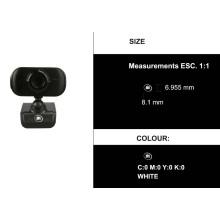 Câmera IP P2P WiFi Rede Preto
