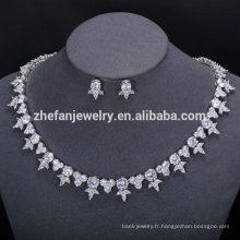 Bijoux de luxe en cuivre d'usine en gros bijoux africains ensembles dubai