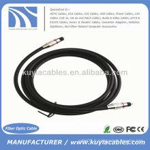 1.8M 6FT Câble audio numérique à fibre optique Cordon Toslink Câble mâle à mâle 7.0mm