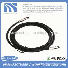 1.8M 6FT cabo de cabo de fibra óptica de áudio digital cabo Toslink macho para macho 7,0 milímetros
