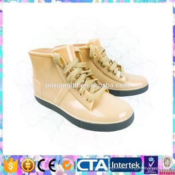 plastic rain shoes lace up rain boots for girl