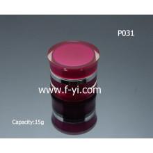 15g Rectángulo de acrílico doble redondo de encargo rojo elegante de la pared