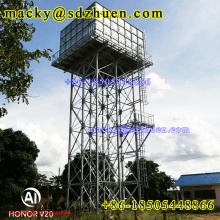 18m high 1220x1220mm galvanized overhead steel water tank with cheap price