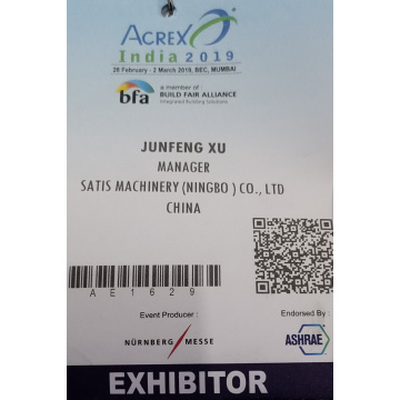 Satis Machinery Acrex India 2019 Fin Die