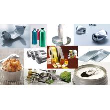 One Side Bright Household Folha de alumínio para embalagem de alimentos 1145 O 12mic X 450mm