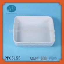 white porcelain oven plate bake plate dish