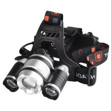 Einstellbarer Zoom Wiederaufladbarer, leistungsstarker LED-Scheinwerfer