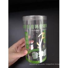 Manufacturer Custom printed plastic cylinder box (clear round box)