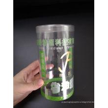 Изготовленный на заказ напечатанный пластичный цилиндр коробка (ясная круглая коробка)