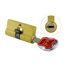 Cylindre de serrure de mortaise de serrure de mortaise de lame de sûreté de porte en laiton 6 pistes